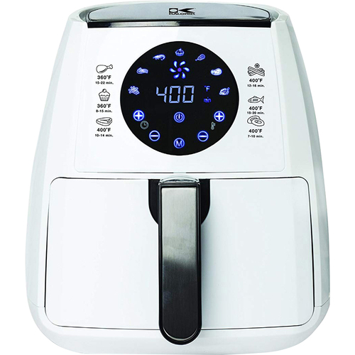 Kalorik White Digital Air Fryer with Dual Layer Rack FT 42174 W - Open Box