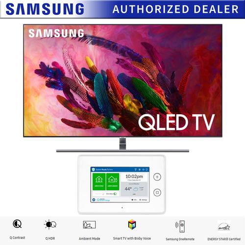 "QN55Q7FNAFXZA Samsung QN55Q7FNA 55/"" Q7FN Eclipse Silver QLED 4K UHD Smart HDTV"