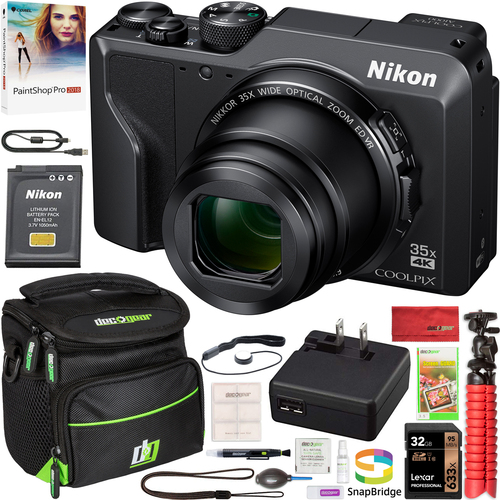 Nikon COOLPIX A1000 Digital Camera 4K Video Wi-Fi 35x Optical Zoom Case Accessory Kit