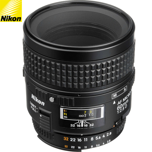 Nikon 60mm f/2.8D AF Micro Nikkor Lens 1987 - (Renewed)