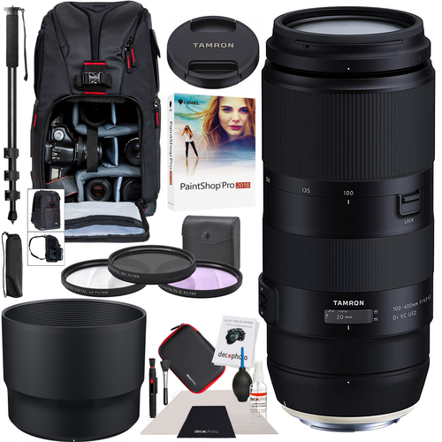 Tamron 100-400mm F/4.5-6.3 Di VC USD Lens for Nikon A035 AFA035N-700 Backpack Bundle