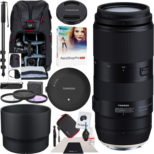Tamron 100-400mm F/4.5-6.3 Di VC USD Lens A035 for Nikon + Tap-in Conosole Backpack Kit