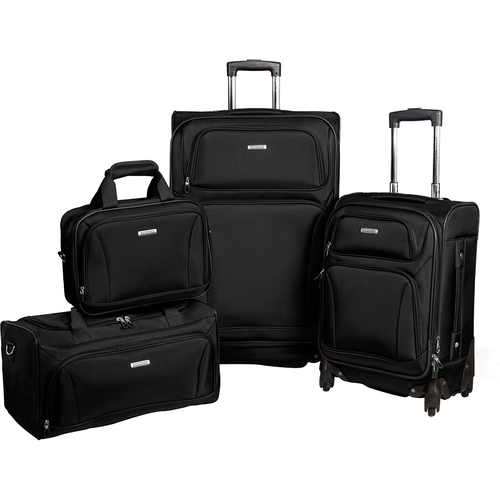 American Tourister Premium 4 Piece Lightweight 1680D Luggage Set (20,28 Spinner, Boarding & Duffel)