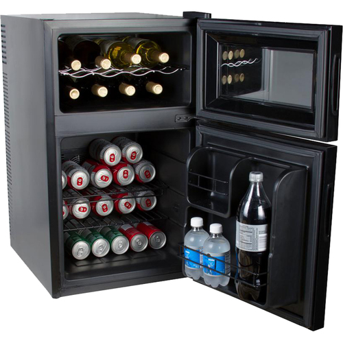 Kalorik 2-in-1 Beer or Soda and Wine Fridge Cooler, Black, WCL 42513 BK - Open Box