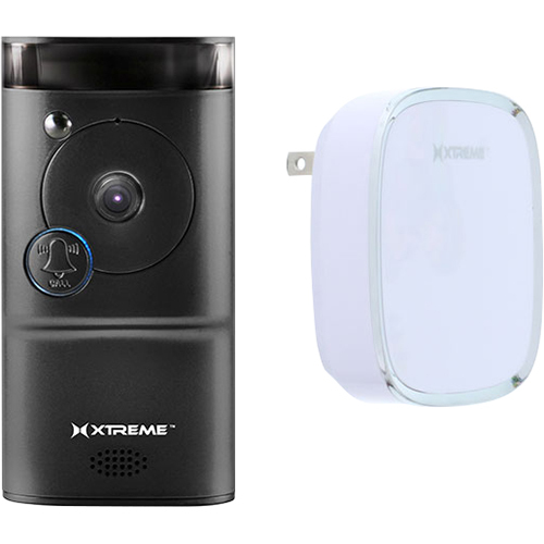 Xtreme Connected Home WiFi Smart HD Video Doorbell Camera With Free Chime - Black
