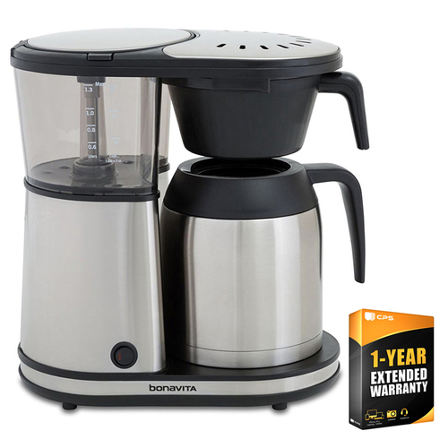 Bonavita Connoisseur 8-Cup One-Touch Coffee Brewer with Extended Warranty