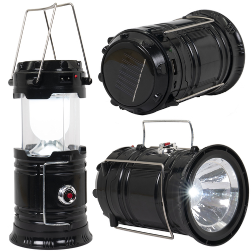 Camping Lantern - Rechargeable LED Lantern and Solar Power Bank