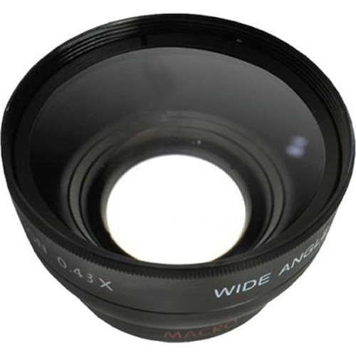 Pro .43X Wide Angle Lens w/ Macro 37mm threading (Black)