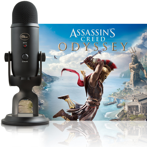 BLUE MICROPHONES Blackout Yeti + Assassin's Creed Odyssey Bundle