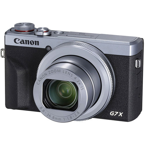 Canon PowerShot G7 X Mark III 20.1MP 4.2x Optical Zoom Digital Camera-Silver(3638C001)