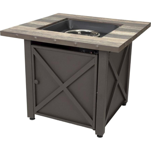 Blue Rhino LP Gas Fire Table Brown