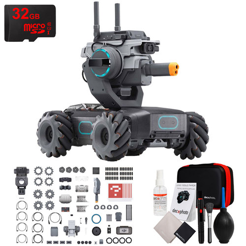 DJI RoboMaster S1 Educational Robot with Full HD 1080p Camera + 32GB Pro Bundle