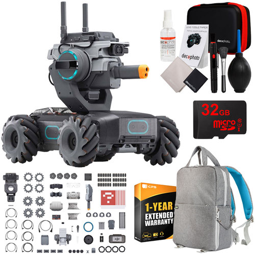 DJI RoboMaster S1 Educational Robot with 1080p HD Camera + 32GB Backpack Bundle