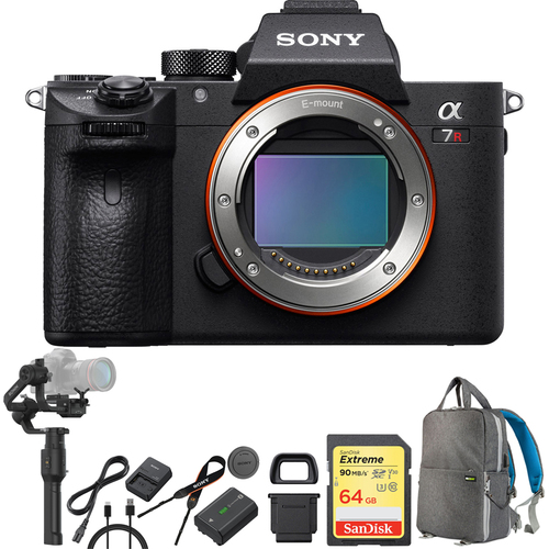 Sony a7R III Interchangeable Lens 42.4MP Camera Body ILCE7RM3/B + Gimbal Bundle