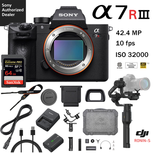Sony a7R III 42 4MP Mirrorless + DJI Ronin-S 3-Axis Kit