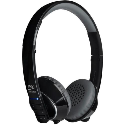 MEElectronics Air-Fi Runaway AF32 Stereo Bluetooth Wireless Headphones w/ Mic. (Black/Grey)