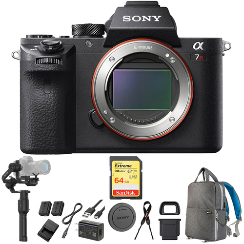 Sony a7R II Interchangeable Lens 42.4MP Camera Body + Gimbal Stabilizer Bundle
