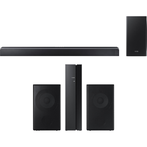 Samsung 370W Virtual 5.1.2-Ch Soundbar System w/ Wireless Subwoofer + Speaker Bundle