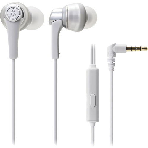 Audio-Technica SonicPro In-Ear Headphones with In-line Mic & Control (ATH-CKR5iS White)