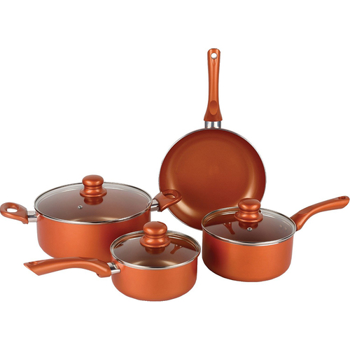 Brentwood Induction Copper Cookware 7pc