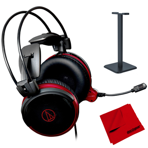 Audio-Technica Closed Back High-Fidelity Premium Gaming Headset + Stand & Cloth