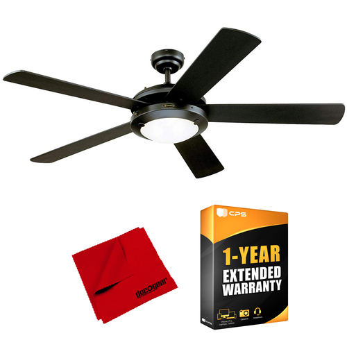 Westinghouse Comet 52-Inch Matte Black Indoor Ceiling Fan + Warranty Bundle