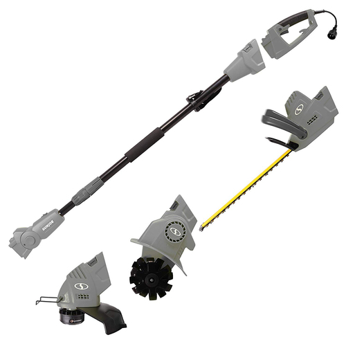 Sun Joe GTS4000E Lawn + Garden Multi-Tool Care System, Gray - (Renewed)