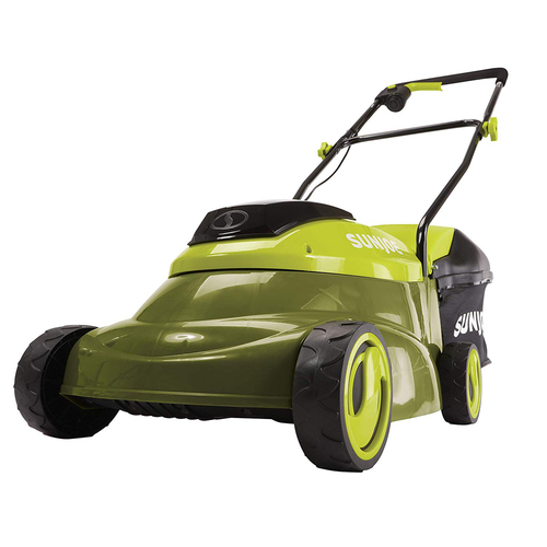 Sun Joe MJ24C-14-XR 24-Volt 5-Amp 14-Inch Cordless Brushless Motor Lawn Mower (Green)