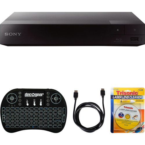 Sony Streaming Blu-ray Disc Player w/ Wi-Fi (BDP-S3700) + Accessories Bundle