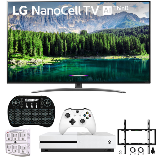 LG 65` 4K HDR Smart LED NanoCell TV with AI ThinQ 2019 Model + Xbox One S Bundle