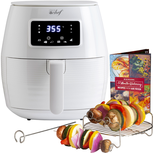 Deco Chef Digital 5.8QT Electric Air Fryer - Healthier & Faster Cooking - White