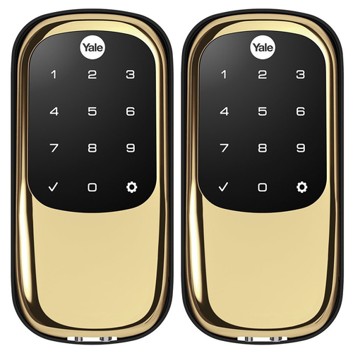 Yale Locks Assure Lock Key Free Touchscreen with iM1 - HomeKit Enabled - Polished Brass