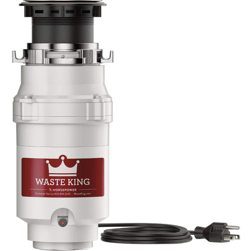 Waste King Legend Series 1/2 HP Continuous Feed Garbage Disposer - 1001