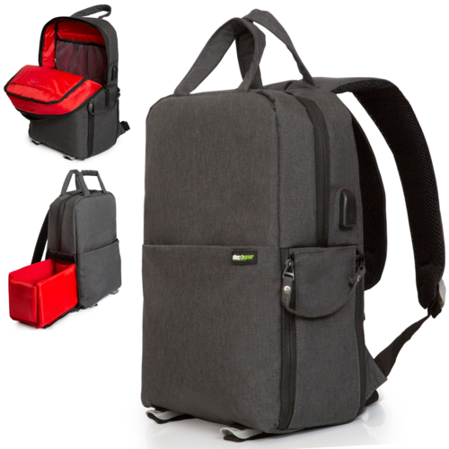 Photo and Video Backpack for Mirrorless and DSLR Cameras and Drones (Dark Grey)