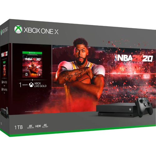 Microsoft Xbox One X Bundle: 1 TB Console with NBA 2K20 and Wireless Controller