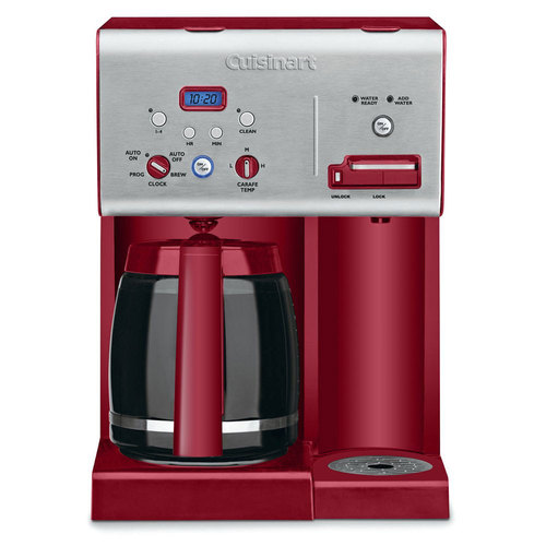 Cuisinart CHW-12R RED Coffee Plus 12-Cup Prog. Coffeemaker w/ Hot Water System REFURBISHED
