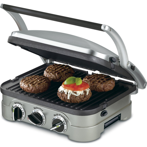 Cuisinart GR-4N 5-in-1 Griddler Griddle & Panini Press - Factory Refurbished