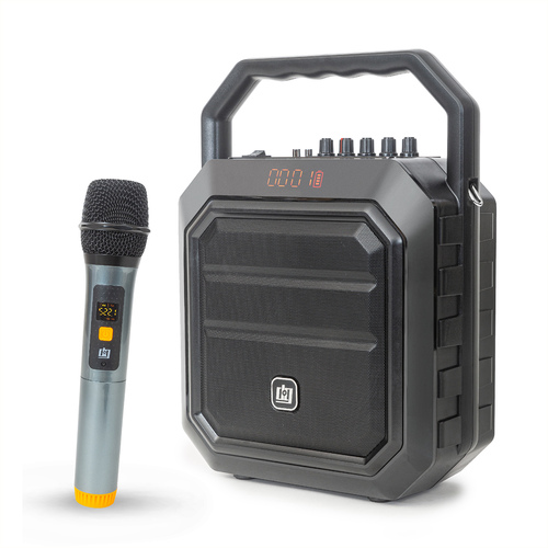 Portable PA Speaker with Wireless Microphone - 30W Power and 4000 mAh Battery