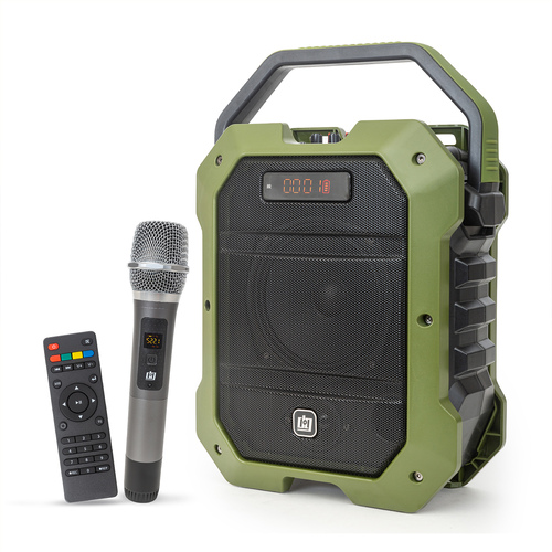 Portable PA Speaker with Wireless Microphone - 80W Power and 5000 mAh Battery
