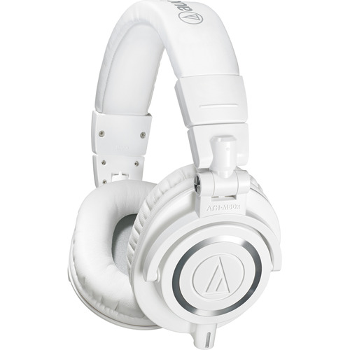 Audio-Technica ATH-M50X Professional Studio Headphones (White)