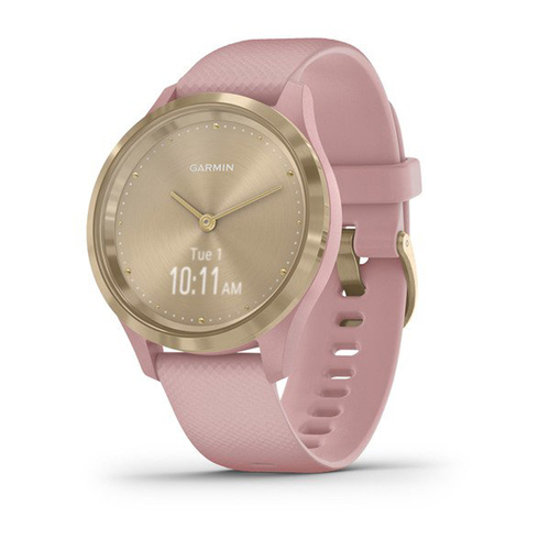 Garmin VIVOMOVE 3S Hybrid Smartwatch w/ Hidden Touchscreen - (Light Gold w/ Rose Band)