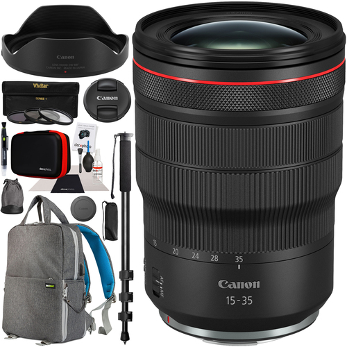 Canon RF 15-35mm F2.8L IS USM Lens for EOS R & RP Mirrorless Camera Pro Bundle