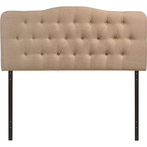 Modway Annabel Queen Upholstered Fabric Headboard in Beige - Open Box