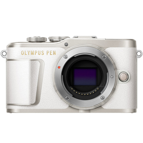 Olympus PEN E-PL9 16.1 MP Wi-Fi 4K Mirrorless Camera Body - (Pearl White) - Open Box