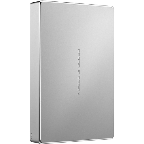 LaCie Porsche Design 4TB USB-C Mobile Hard Drive in Silver - STFD4000400 - Open Box