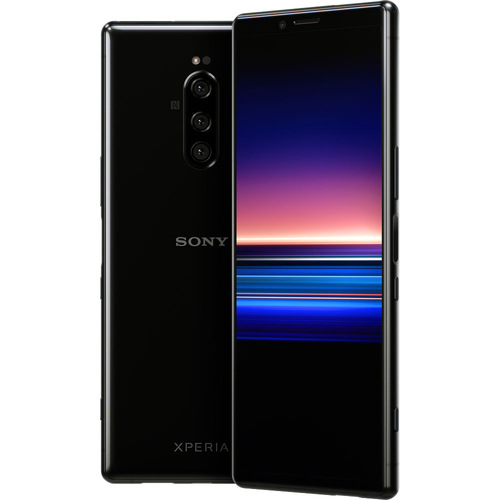 Sony Xperia 1 Unlocked Smartphone 6.5` 4K HDR OLED CinemaWide Display, 128GB (Black)