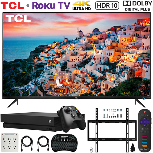 TCL 55S525 55-inch 5-Series Roku Smart HDR 4K UHD TV (2019) w/ Xbox One X Bundle