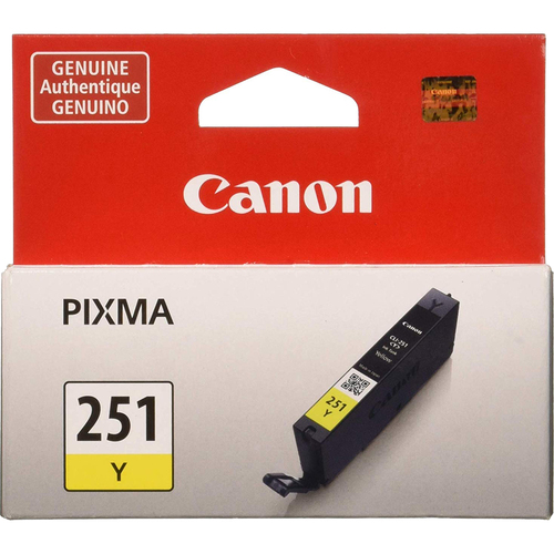 Canon CLI-251 Yellow Ink Tank for PIXMA iP7220, MG5420, MG6320 Printers