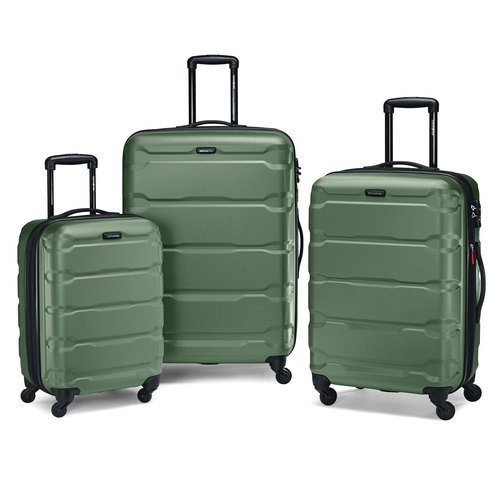 Samsonite Omni 3 Piece Hardside Luggage Nested Spinner Set (20`/24`/28`) Army Green