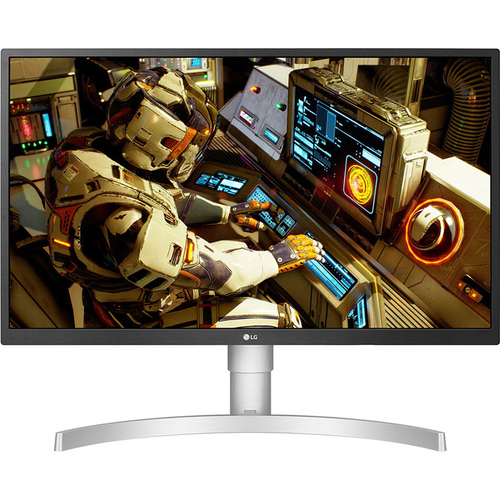 LG 27` Ultra HD Color Calibrated Monitor with Stand and OnScreen Control (White)